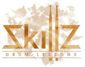 Logo Skillz Drum Lessons with transparent background